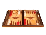 picture of Walnut and Oak Backgammon Set - Large - Red (4 of 12)