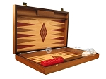 picture of Walnut and Oak Backgammon Set - Large - Red (7 of 12)