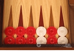 picture of Walnut and Oak Backgammon Set - Large - Red (8 of 12)