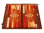 Mahogany Backgammon Set - Large - Red - Item: 2851