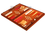 picture of Mahogany Backgammon Set - Large - Red (3 of 12)
