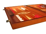 picture of Mahogany Backgammon Set - Large - Red (5 of 12)
