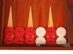 picture of Mahogany Backgammon Set - Large - Red (8 of 12)