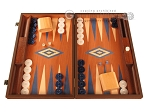 Mahogany Backgammon Set - Large - Blue - Item: 2853