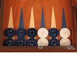 picture of Mahogany Backgammon Set - Large - Blue (8 of 12)