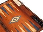 picture of Mahogany Backgammon Set - Large - Blue (9 of 12)