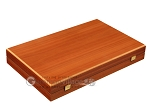 Mahogany Backgammon Set - Large - Blue