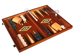 picture of Mahogany Backgammon Set - Large - Green (2 of 12)