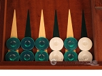 picture of Mahogany Backgammon Set - Large - Green (8 of 12)