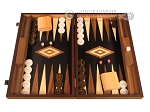 picture of Ebony Zebrano Backgammon Set - Large - Black Field (1 of 12)