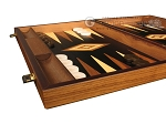 picture of Ebony Zebrano Backgammon Set - Large - Black Field (5 of 12)