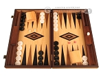 Ebony Zebrano Backgammon Set - Large - Oak Field - Item: 2895