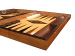 picture of Ebony Zebrano Backgammon Set - Large - Oak Field (6 of 12)