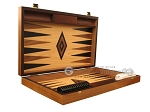 Ebony Zebrano Backgammon Set - Large - Oak Field