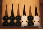 picture of Ebony Zebrano Backgammon Set - Large - Oak Field (8 of 12)