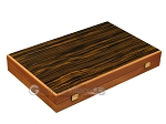 picture of Ebony Zebrano Backgammon Set - Large - Oak Field (10 of 12)