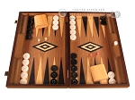 Ebony Zebrano Backgammon Set - Large - Walnut Field - Item: 2896
