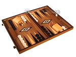 picture of Ebony Zebrano Backgammon Set - Large - Walnut Field (2 of 12)