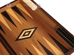 picture of Ebony Zebrano Backgammon Set - Large - Walnut Field (9 of 12)