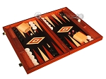 picture of Padauk Backgammon Set - Large - Black Field (2 of 12)