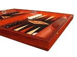 picture of Padauk Backgammon Set - Large - Black Field (6 of 12)