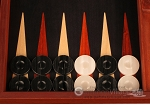 picture of Padauk Backgammon Set - Large - Black Field (8 of 12)