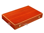 Padauk Backgammon Set - Large - Black Field - Item: 2867