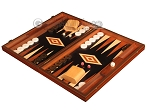 Wenge Backgammon Set - Large - Black Field