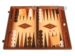 Wenge Backgammon Set - Large - Oak Field - Item: 2903