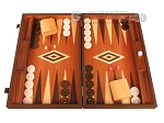 Wenge Backgammon Set - Large - Mahogany Field - Item: 2902