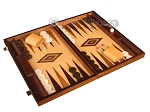 picture of Walnut Root Backgammon Set - Large - Oak Field (2 of 12)