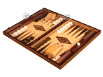 picture of Walnut Root Backgammon Set - Large - Oak Field (3 of 12)