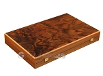 Walnut Root Backgammon Set - Large - Oak Field - Item: 2880