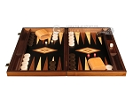 picture of Walnut Root Backgammon Set - Large - Black Field (4 of 12)