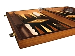 picture of Walnut Root Backgammon Set - Large - Black Field (5 of 12)