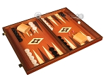 picture of 19-inch Wood Backgammon Set - Mahogany with Printed Field and Side Racks (2 of 12)