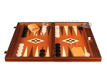 picture of 19-inch Wood Backgammon Set - Mahogany with Printed Field and Side Racks (4 of 12)