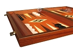 picture of 19-inch Wood Backgammon Set - Mahogany with Printed Field and Side Racks (5 of 12)