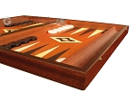 picture of 19-inch Wood Backgammon Set - Mahogany with Printed Field and Side Racks (6 of 12)