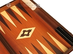 picture of 19-inch Wood Backgammon Set - Mahogany with Printed Field and Side Racks (9 of 12)