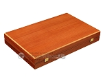 picture of 19-inch Wood Backgammon Set - Mahogany with Printed Field and Side Racks (10 of 12)