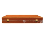 picture of 19-inch Wood Backgammon Set - Mahogany with Printed Field and Side Racks (11 of 12)