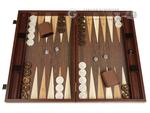 19-inch Wood Backgammon Set - Wenge with Side Racks - Item: 3978