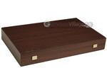 19-inch Wood Backgammon Set - Wenge with Side Racks