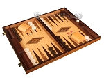 Zebrano Backgammon Set - Large - Oak Field