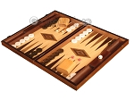 picture of Zebrano Backgammon Set - Large - Oak Field (3 of 12)