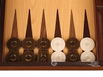 picture of Zebrano Backgammon Set - Large - Oak Field (8 of 12)