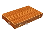 Zebrano Backgammon Set - Large - Oak Field - Item: 2887