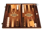 Zebrano Backgammon Set - Large - Walnut Field - Item: 2888