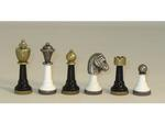 Black & White Wood and Metal Chess Set